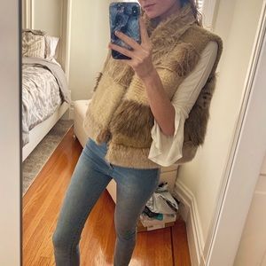 Anthropologie Jackets & Coats - Anthropologie Mixed Faux Fur Vest